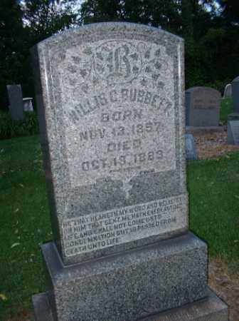 C BUBBETT, WILLIS - Beaver County, Pennsylvania | WILLIS C BUBBETT - Pennsylvania Gravestone Photos