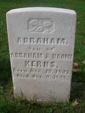 KERNS, ABRAHAM - Bedford County, Pennsylvania   ABRAHAM KERNS - Pennsylvania Gravestone Photos