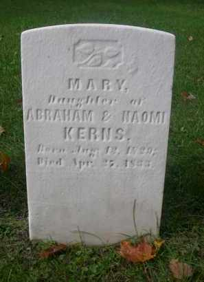 KERNS, MARY - Bedford County, Pennsylvania | MARY KERNS - Pennsylvania Gravestone Photos
