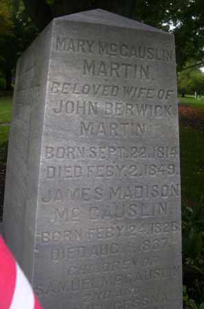 MCCAUSLIN MARTIN, MARY - Bedford County, Pennsylvania | MARY MCCAUSLIN MARTIN - Pennsylvania Gravestone Photos