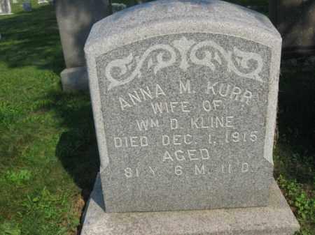 KURR KLINE, ANNA M. - Berks County, Pennsylvania   ANNA M. KURR KLINE - Pennsylvania Gravestone Photos