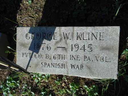 KLINE, GEORGE W. - Berks County, Pennsylvania | GEORGE W. KLINE - Pennsylvania Gravestone Photos