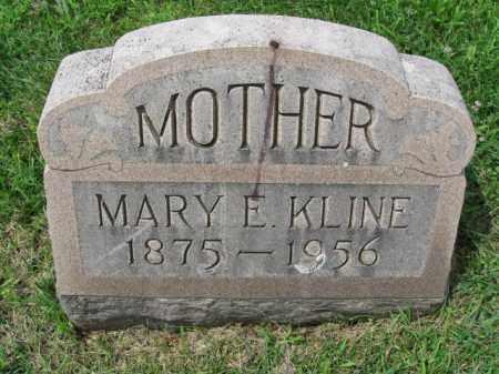KLINE, MARY E. - Berks County, Pennsylvania | MARY E. KLINE - Pennsylvania Gravestone Photos