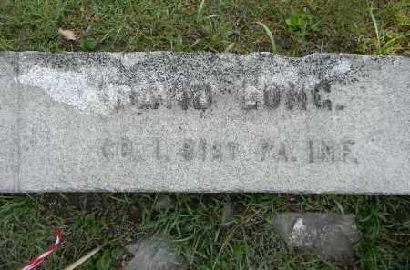 LONG (CW), DAVID - Berks County, Pennsylvania | DAVID LONG (CW) - Pennsylvania Gravestone Photos