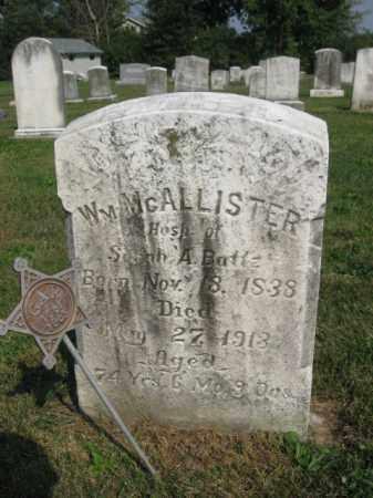 MCALLISTER, WILLIAM - Berks County, Pennsylvania   WILLIAM MCALLISTER - Pennsylvania Gravestone Photos