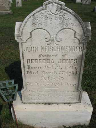 NEISCHWENDER  (CW), JOHN - Berks County, Pennsylvania | JOHN NEISCHWENDER  (CW) - Pennsylvania Gravestone Photos