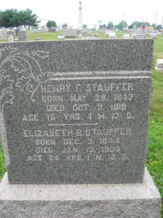 STAUFFER, ELIZABETH B. - Berks County, Pennsylvania | ELIZABETH B. STAUFFER - Pennsylvania Gravestone Photos