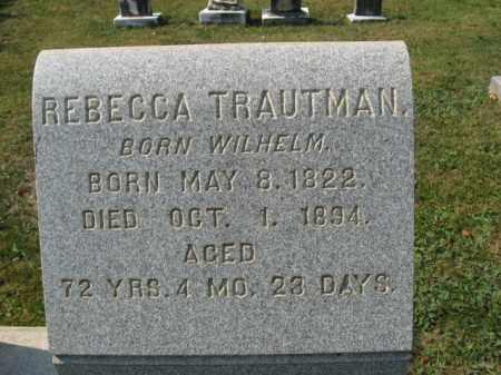 TRAUTMAN, REBECCA - Berks County, Pennsylvania | REBECCA TRAUTMAN - Pennsylvania Gravestone Photos