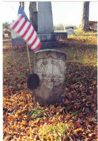 BROWN (RW), DAVID - Bradford County, Pennsylvania | DAVID BROWN (RW) - Pennsylvania Gravestone Photos