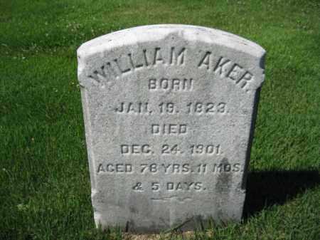 AKER, WILLIAM - Bucks County, Pennsylvania | WILLIAM AKER - Pennsylvania Gravestone Photos