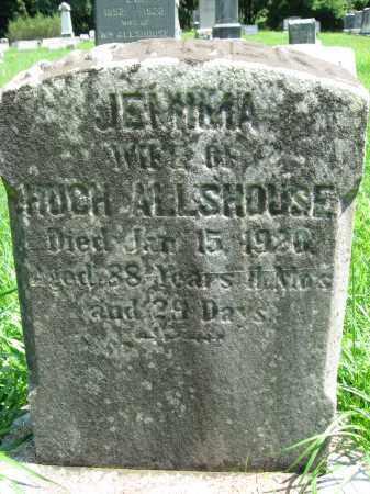 ALLSHOUSE, JEMIMA - Bucks County, Pennsylvania | JEMIMA ALLSHOUSE - Pennsylvania Gravestone Photos