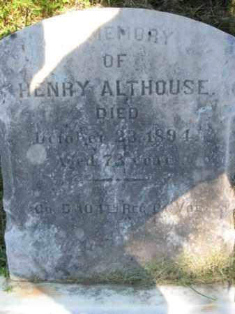 ALTHOUSE (CW), HENRY - Bucks County, Pennsylvania   HENRY ALTHOUSE (CW) - Pennsylvania Gravestone Photos