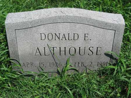 ALTHOUSE, DONALD E. - Bucks County, Pennsylvania | DONALD E. ALTHOUSE - Pennsylvania Gravestone Photos