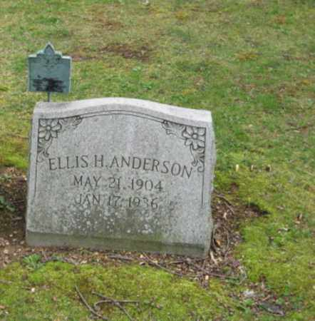 ANDERSON, ELLIS H. - Bucks County, Pennsylvania | ELLIS H. ANDERSON - Pennsylvania Gravestone Photos