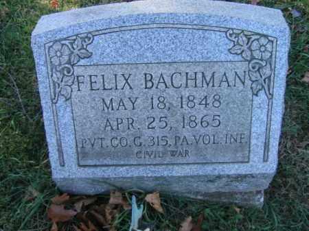 BACHMAN (CW), FELIX - Bucks County, Pennsylvania   FELIX BACHMAN (CW) - Pennsylvania Gravestone Photos