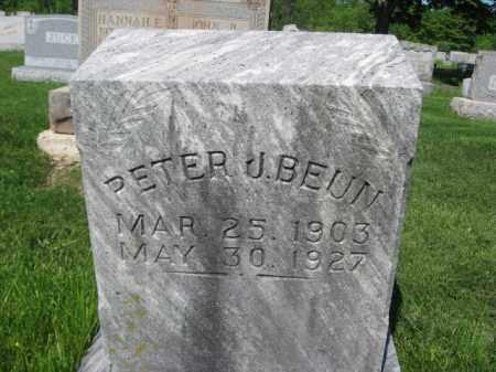 BEUN, PETER J. - Bucks County, Pennsylvania | PETER J. BEUN - Pennsylvania Gravestone Photos