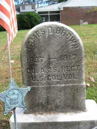 BROWN, JAMES D. - Bucks County, Pennsylvania   JAMES D. BROWN - Pennsylvania Gravestone Photos