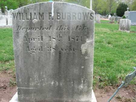 BURROWS, WILLIAM F. - Bucks County, Pennsylvania | WILLIAM F. BURROWS - Pennsylvania Gravestone Photos