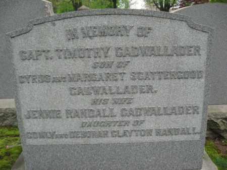 CADAWLLADER, CAPT.TIMOTHY - Bucks County, Pennsylvania | CAPT.TIMOTHY CADAWLLADER - Pennsylvania Gravestone Photos