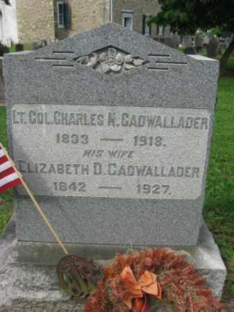CADWALLADER (CW), CHARLES NASAU - Bucks County, Pennsylvania   CHARLES NASAU CADWALLADER (CW) - Pennsylvania Gravestone Photos