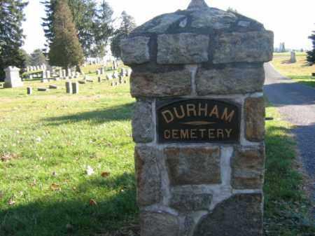 CEMETERY ENTRANCE SIGN, DURHAM - Bucks County, Pennsylvania | DURHAM CEMETERY ENTRANCE SIGN - Pennsylvania Gravestone Photos