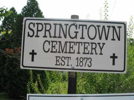 CEMETERY SIGN, SPRINGTOWN - Bucks County, Pennsylvania | SPRINGTOWN CEMETERY SIGN - Pennsylvania Gravestone Photos