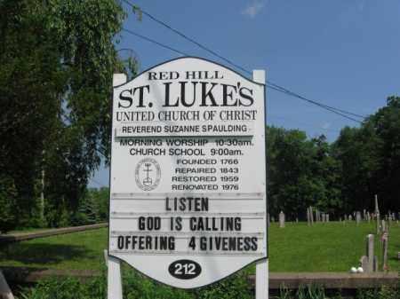 CEMETERY SIGN, ST. LUKES - Bucks County, Pennsylvania | ST. LUKES CEMETERY SIGN - Pennsylvania Gravestone Photos