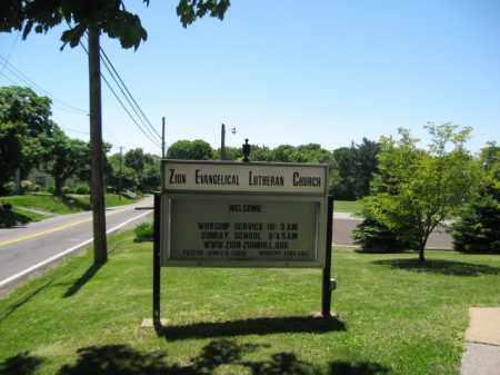 CHURCH CEMETERY, ZION EVANGELICAL LUTHERAN - Bucks County, Pennsylvania   ZION EVANGELICAL LUTHERAN CHURCH CEMETERY - Pennsylvania Gravestone Photos