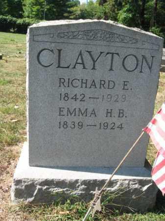 CLAYTON, RICHARD E. - Bucks County, Pennsylvania | RICHARD E. CLAYTON - Pennsylvania Gravestone Photos