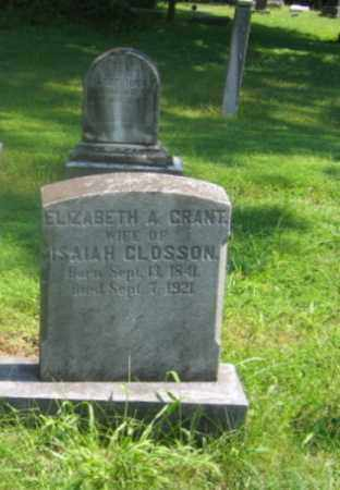 GRANT CLOSSON, ELIZABETH A. - Bucks County, Pennsylvania | ELIZABETH A. GRANT CLOSSON - Pennsylvania Gravestone Photos
