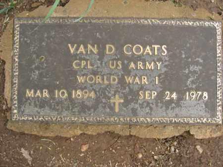 COATS, VAN D. - Bucks County, Pennsylvania   VAN D. COATS - Pennsylvania Gravestone Photos