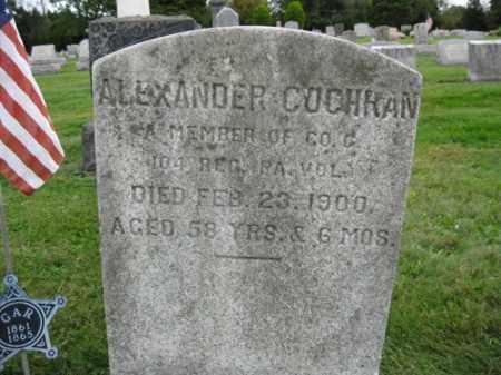 COCHRAN (CW), ALEXANDER - Bucks County, Pennsylvania | ALEXANDER COCHRAN (CW) - Pennsylvania Gravestone Photos