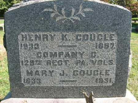 COUGLE, MARY J. - Bucks County, Pennsylvania   MARY J. COUGLE - Pennsylvania Gravestone Photos
