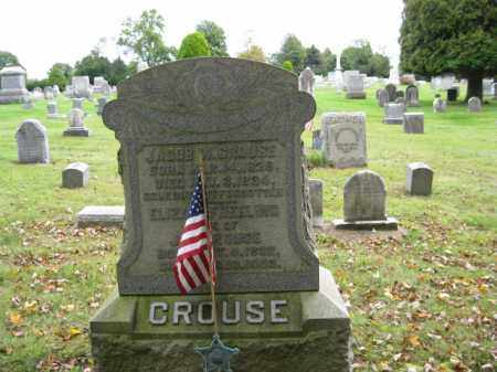 CROUSE (CW), JACOB W. - Bucks County, Pennsylvania | JACOB W. CROUSE (CW) - Pennsylvania Gravestone Photos