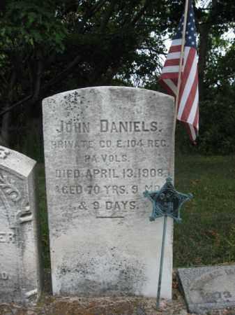 DANIELS, PVT.JOHN - Bucks County, Pennsylvania | PVT.JOHN DANIELS - Pennsylvania Gravestone Photos