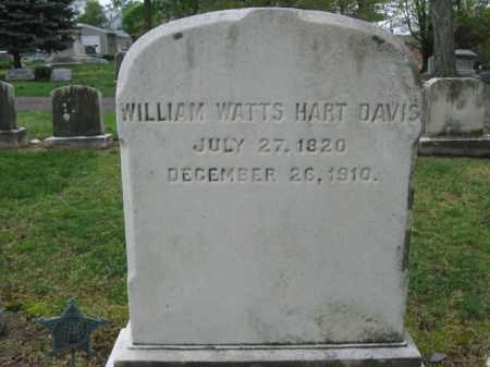 DAVIS (CW), COL.WILLIAM WATTS HART - Bucks County, Pennsylvania | COL.WILLIAM WATTS HART DAVIS (CW) - Pennsylvania Gravestone Photos