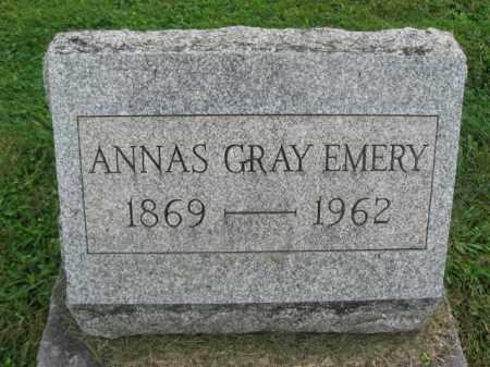 GRAY EMERY, ANNAS - Bucks County, Pennsylvania   ANNAS GRAY EMERY - Pennsylvania Gravestone Photos