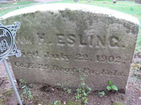 ESLING  (CW), WILLIAM H. - Bucks County, Pennsylvania | WILLIAM H. ESLING  (CW) - Pennsylvania Gravestone Photos