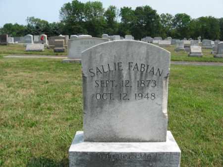 FABIAN, SALLIE - Bucks County, Pennsylvania | SALLIE FABIAN - Pennsylvania Gravestone Photos