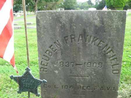 FRANKENFIELD (CW), REUBEN - Bucks County, Pennsylvania   REUBEN FRANKENFIELD (CW) - Pennsylvania Gravestone Photos