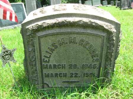 GEDDES (CW), ELIAS M.M. - Bucks County, Pennsylvania | ELIAS M.M. GEDDES (CW) - Pennsylvania Gravestone Photos