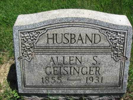 GEISINGER, ALLEN S. - Bucks County, Pennsylvania   ALLEN S. GEISINGER - Pennsylvania Gravestone Photos