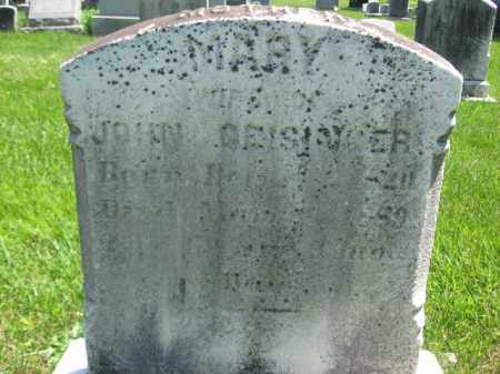 GEISINGER, MARY - Bucks County, Pennsylvania | MARY GEISINGER - Pennsylvania Gravestone Photos