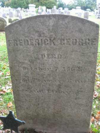 GEORGE, FREDERICK - Bucks County, Pennsylvania | FREDERICK GEORGE - Pennsylvania Gravestone Photos