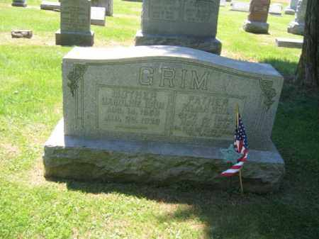 GRIM (CW), KILLIAN - Bucks County, Pennsylvania | KILLIAN GRIM (CW) - Pennsylvania Gravestone Photos