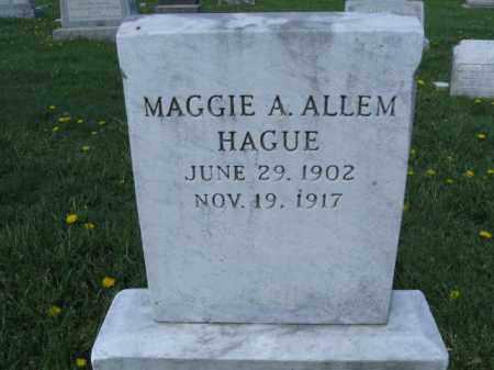 ALLEM HAGUE, MAGGIE A. - Bucks County, Pennsylvania | MAGGIE A. ALLEM HAGUE - Pennsylvania Gravestone Photos