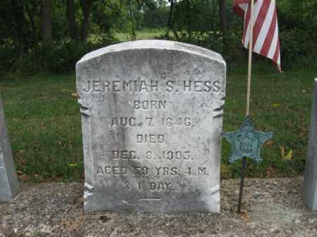 HESS, JEREMIAH  S. - Bucks County, Pennsylvania   JEREMIAH  S. HESS - Pennsylvania Gravestone Photos