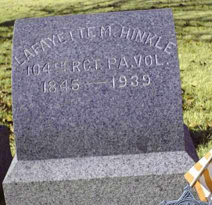 HINKLE (CW), LAFAYETTE - Bucks County, Pennsylvania | LAFAYETTE HINKLE (CW) - Pennsylvania Gravestone Photos