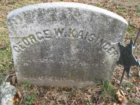 KAISINGER (KAISSINGER) (CW), GEORGE W. - Bucks County, Pennsylvania | GEORGE W. KAISINGER (KAISSINGER) (CW) - Pennsylvania Gravestone Photos