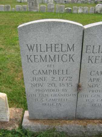 KEMMICK, WILHELM - Bucks County, Pennsylvania | WILHELM KEMMICK - Pennsylvania Gravestone Photos